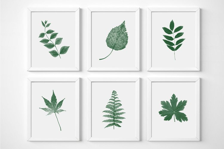 Plant Print Set, Wall Art Printable, Set of 6 Prints