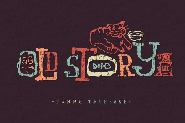 Old story typeface example image 1