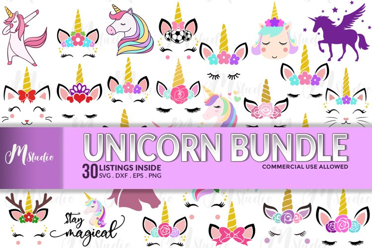 Unicorn Bundle SVG example image 1