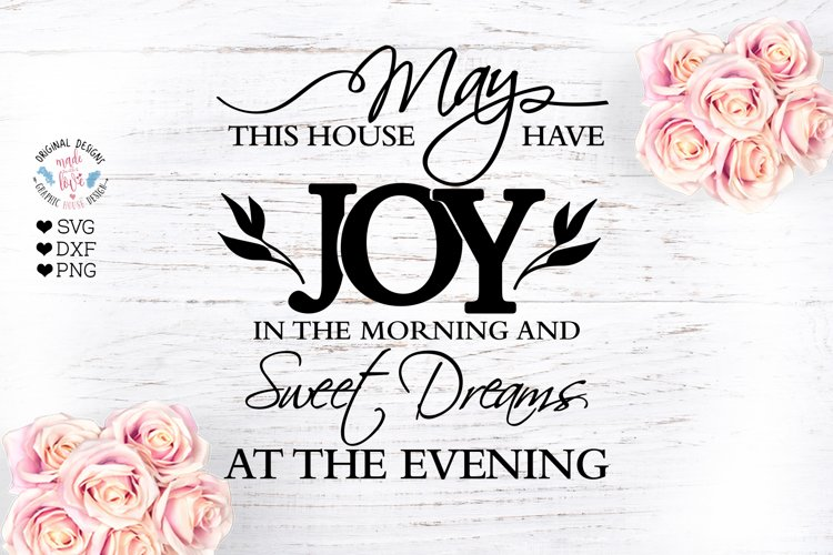 Home Blessings Prayer Cut File - Sublimation File example image 1