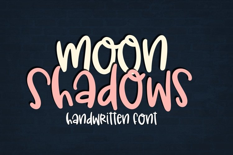 Moon Shadows Handwritten Font for Crafters example image 1