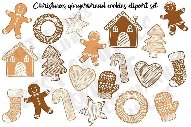 Christmas cookies clipart, Gingerbread xmas cookies clip art