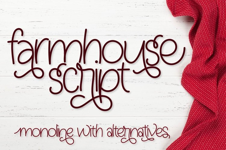 Farmhouse Script - Monoline With Alternatives example image 1