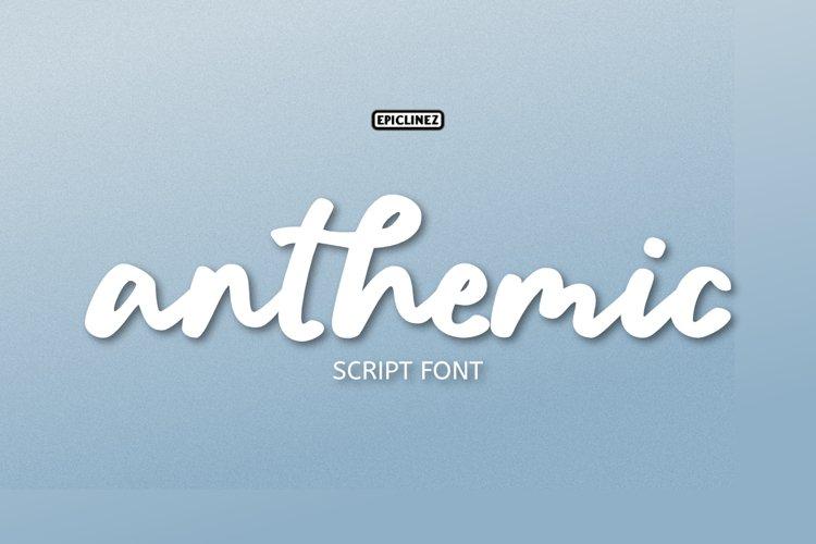 Anthemic | Stylish Script Font example image 1