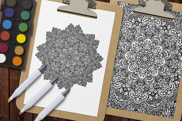Mandala Coloring Pages Vol.6 example 5
