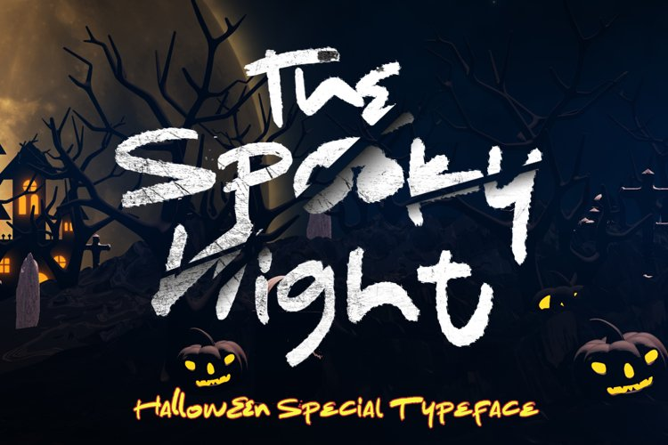 The Spooky Night - A Halloween Font example image 1