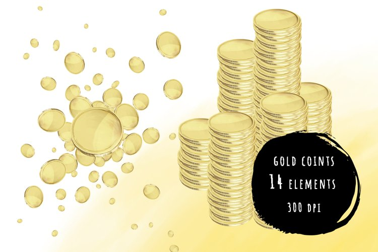 Gold coins bundle example image 1