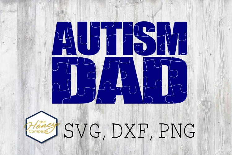 Autism Dad Clipart SVG DXF PNG Cutting Files Vector Set