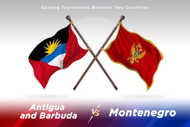 Antigua vs Montenegro Two Flags example image 1