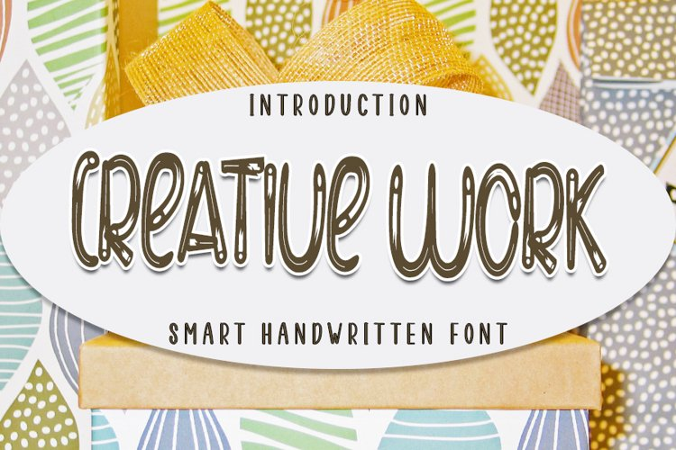 Creative Work - Modern Handcraft Font example image 1