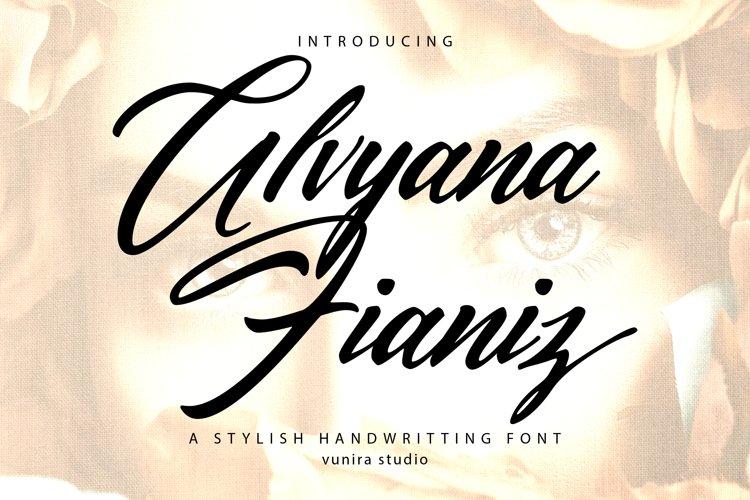 Alvyana Fianiz | A Stylsih Handwritten Font