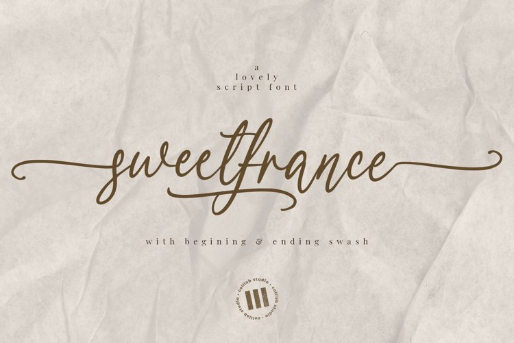 Sweetfrance - A Lovely Script Font example image 1