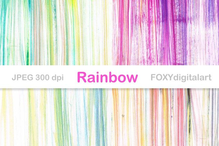 Digital paper ombre rainbow gradient wedding invitation