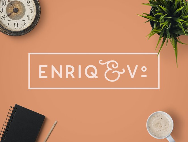 Enriq Round Sans Serif Font example image 1