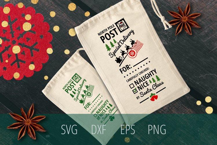Santa Sack SVG Cut File