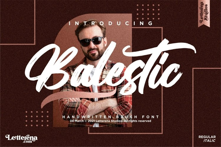 Balestic - Premium Brush Font example image 1