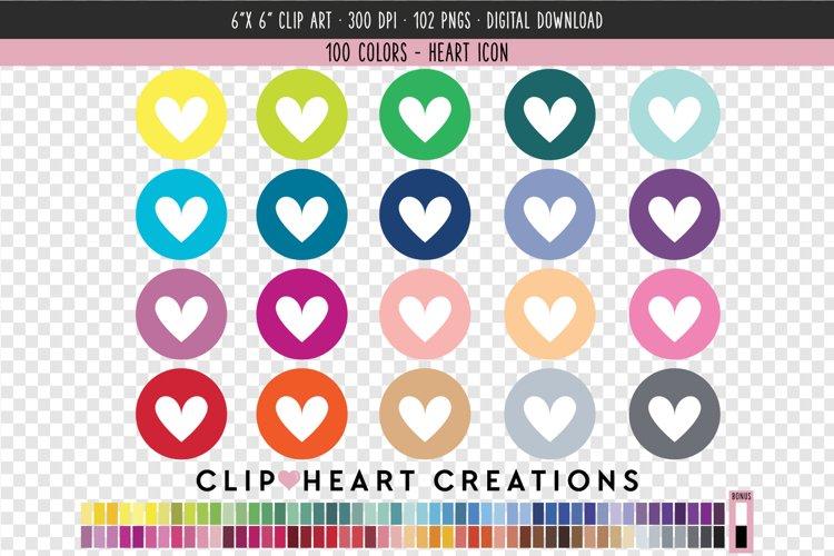 Heart Icon Clip Art - 100 Clip Art Graphics example image 1