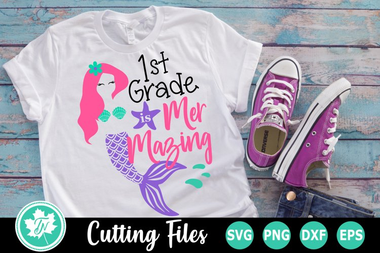 1st Grade is Mer Mazing - A School SVG Cut File example image 1