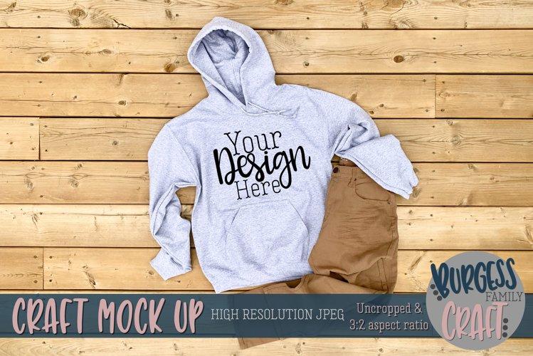 Mens white Gildan hoodie |Craft mock up example image 1