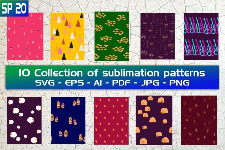 SP20, 10 Collection of sublimation patterns