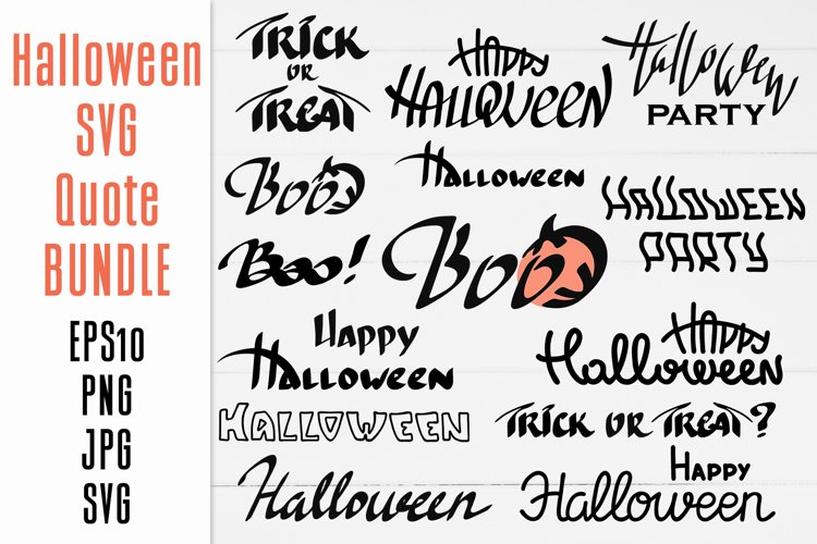 Happy Halloween Svg Quotes Bundle Sublimation Design 857743 Illustrations Design Bundles