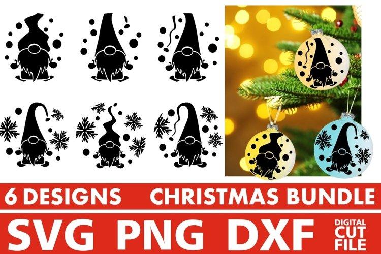Christmas svg Bundle, Christmas Ornaments svg, Gnome Vector example image 1
