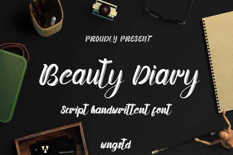 Beauty Diary - Handwritten Brush Font example image 1