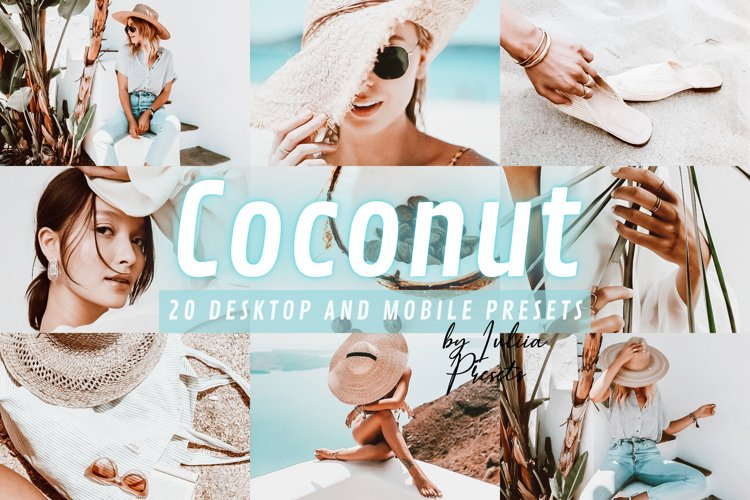 20 COCONUT Lightroom Presets for Mobile & Desktop app