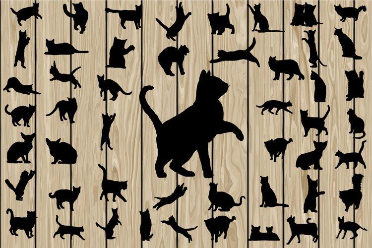 50 Cat SVG, Cat DXF, Cat EPS, Cat Silhouette Clipart, Cat Vector, Cat Png, Cat Cutting file, Kitten Svg, Kitten Eps, Kitten Dxf, Printable. example image 1