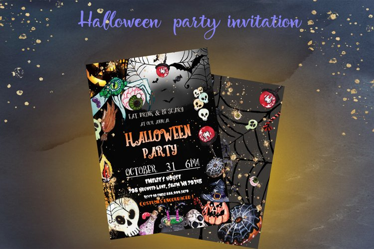 Halloween invitation party example image 1