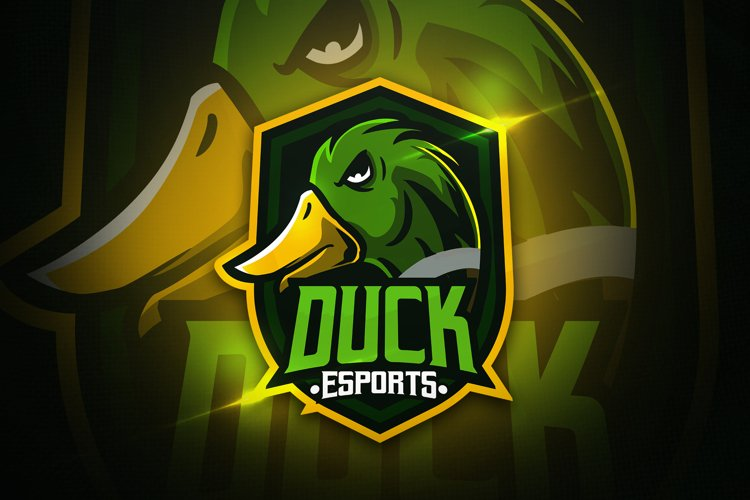 Duck Esports - Mascot & Esport Logo example image 1