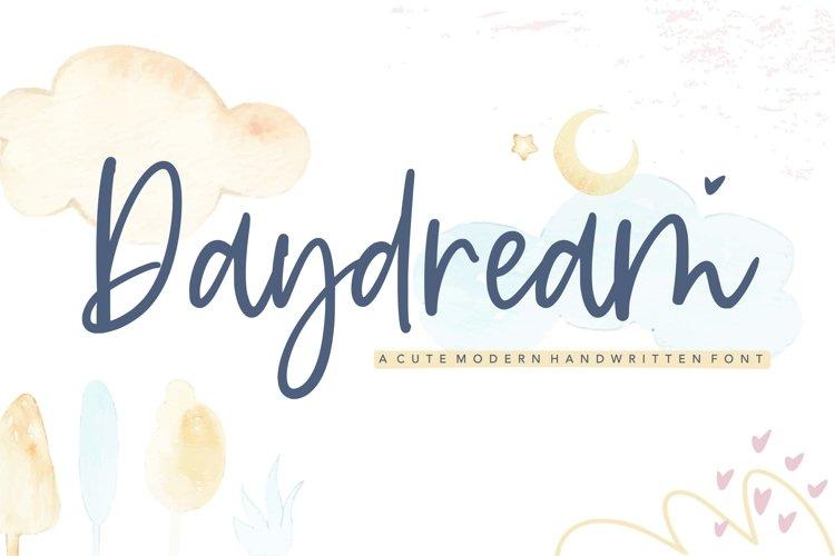 Daydream cute modern handwritten font example image 1