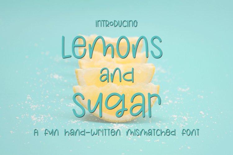 Web Font Lemons and Sugar- A Fun Hand-Written Mismatched Fon example image 1
