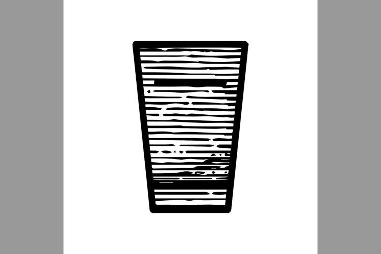 hand drawn glass symbol line icon, Vector Illustration example image 1