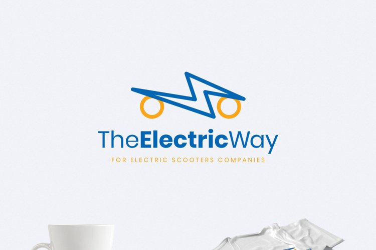 Electric Scooters Logo Template example image 1