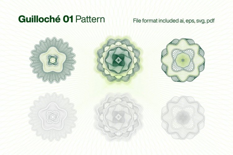 Guilloche 01 Pattern example image 1