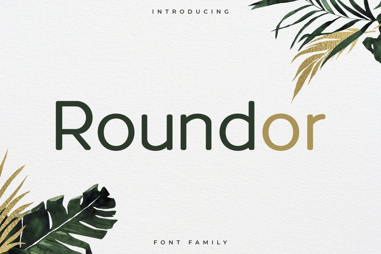 Roundor Font Family - Rounded Sans Serif