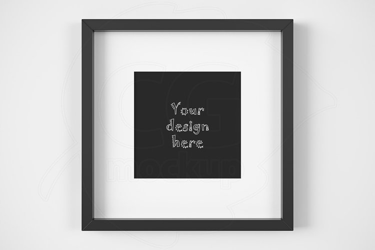 Styled black matted frame mockup example image 1