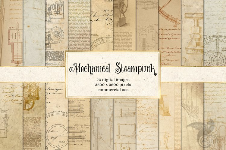 Mechanical Steampunk Digital Paper