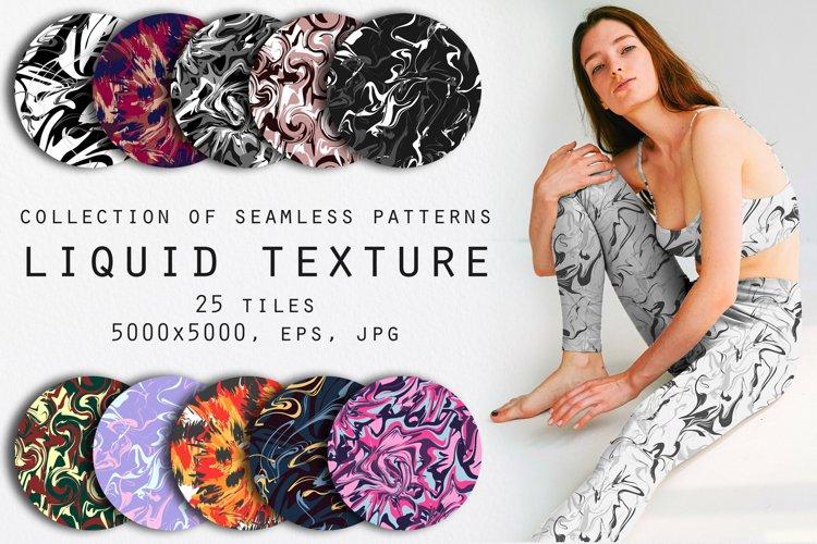 Liquid paint seamless patterns set