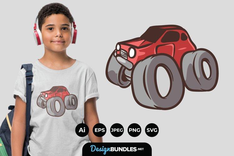 Monster Truck Illustration for T-Shirt Design example image 1