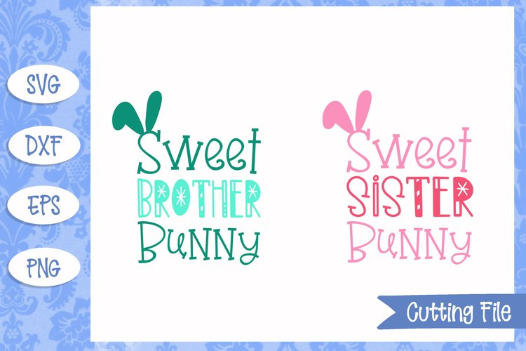 Sweet Brother/Sister Bunny Easter SVG File