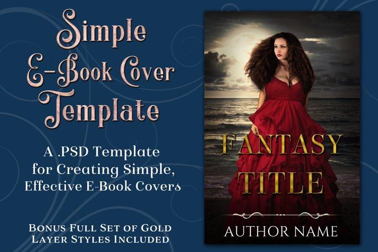 Simple PSD E-Book Cover Template - Bonus Layer Styles