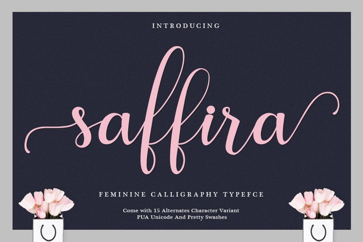 Saffira Script example image 1