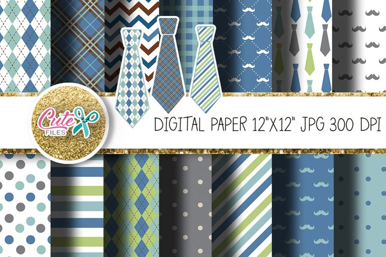 Fathers Day Digital Paper for crafter example image 1