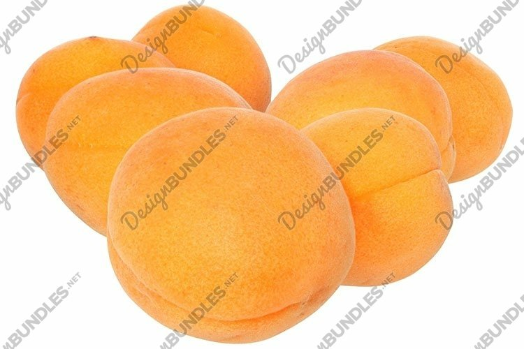 Stock Photo - Apricots group isolated