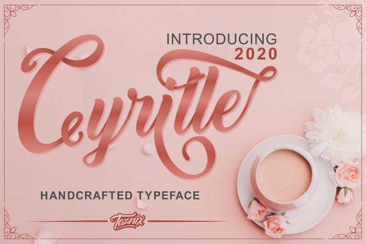 Cyrille Handcrafted Typeface example image 1