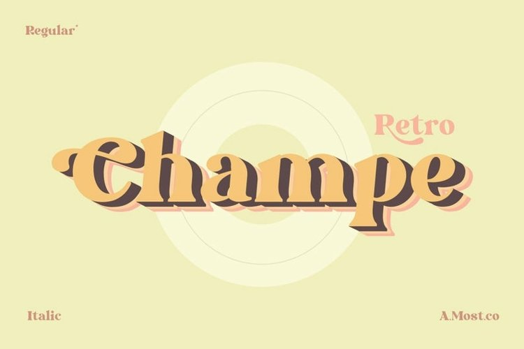 Champe - Retro Font example image 1