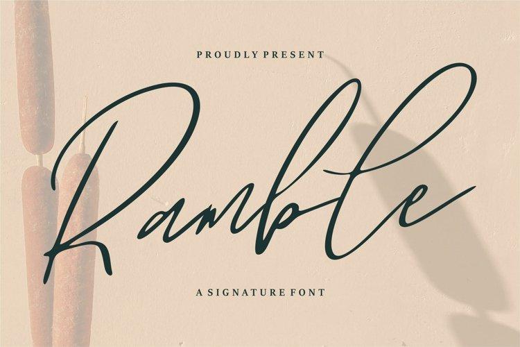 Ramble - A Signature Font example image 1