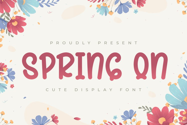 Spring On - Cute Display Font example image 1